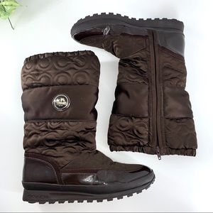 Coach Drexel Signature Brown Winter Boots Sz 9.5